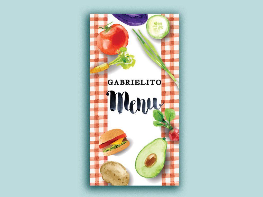 Design Menu for cafe Gabrielito