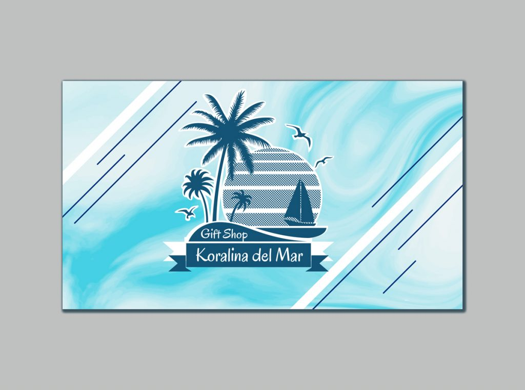 Business card Design for Gift shop Manager