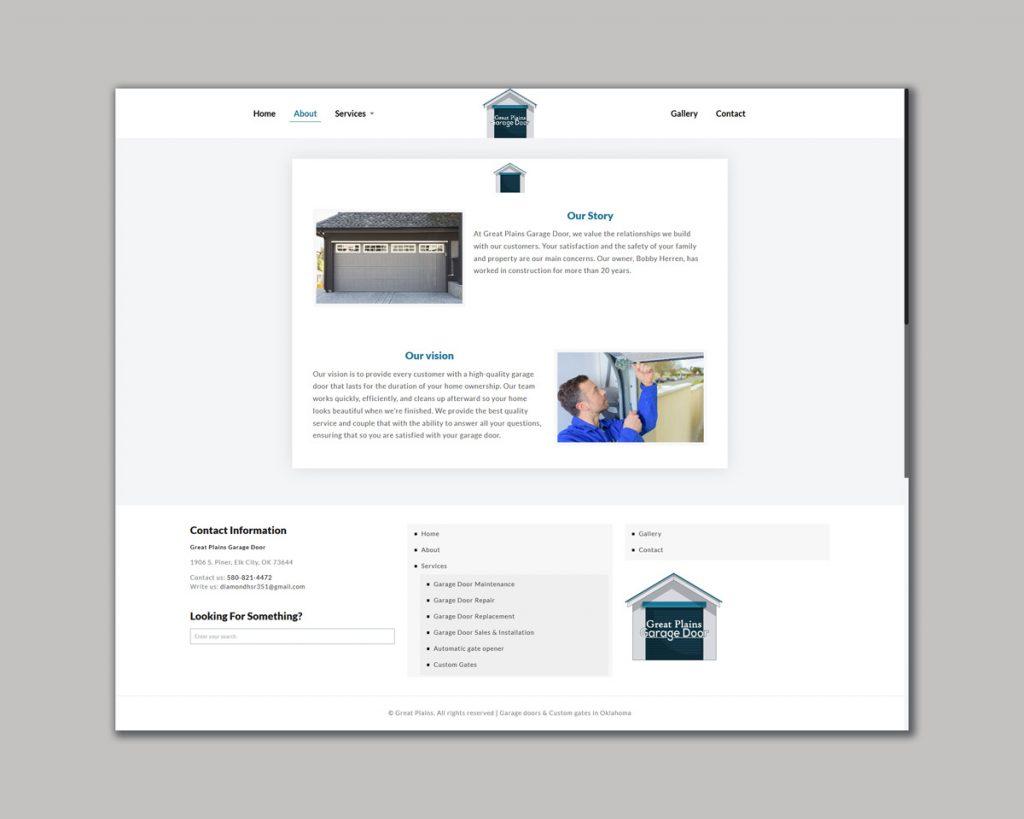 Website Design Garage door Custom Gate Company