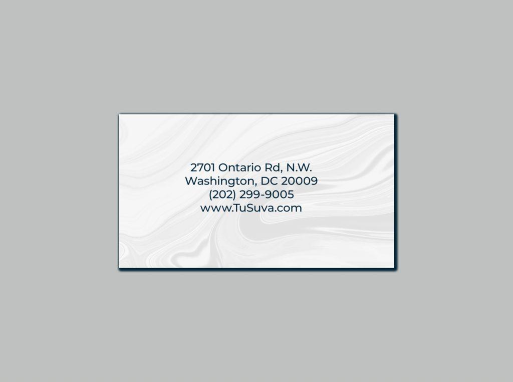 Business card Design for TuSuva SPA