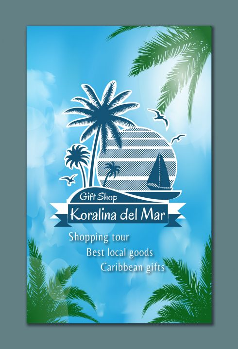 Flyer Design for Shop Koralina de Mar