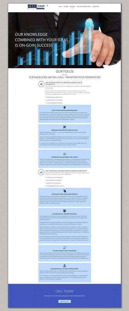 Website Design for business analytics AccuComp Enterprises