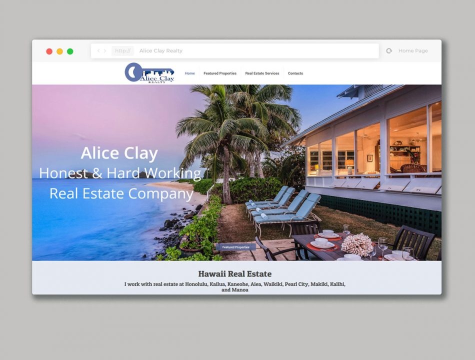 Website design for Real estate