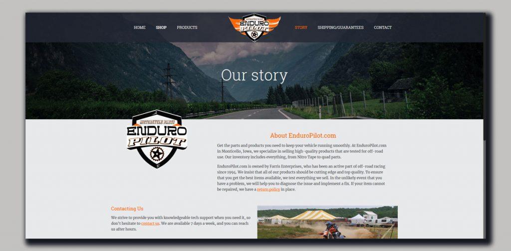 Website design for Motorcycle parts Online shop