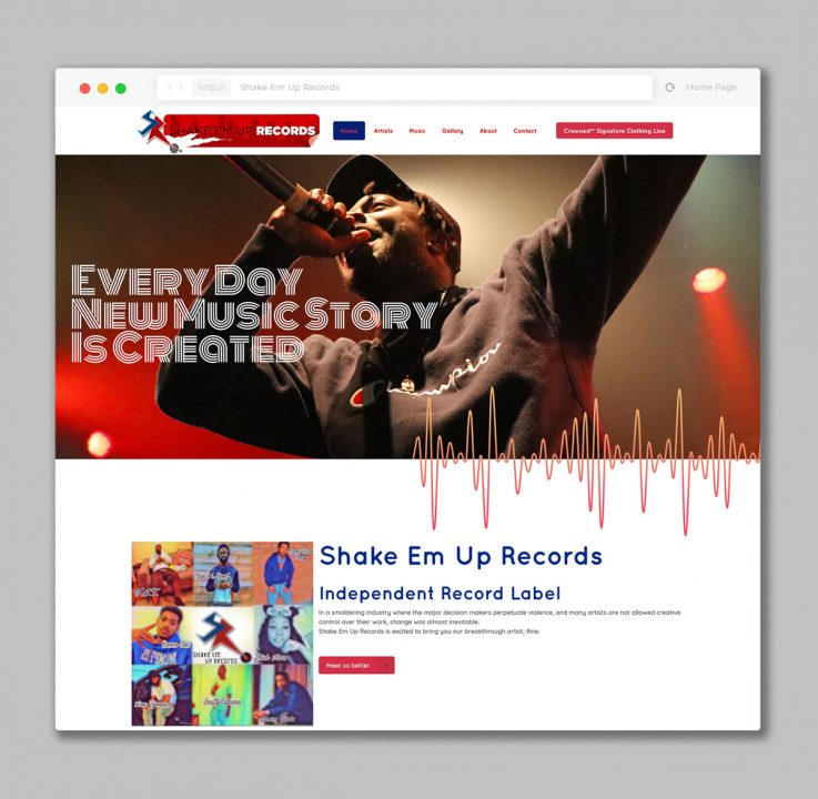 Website design for Record Label