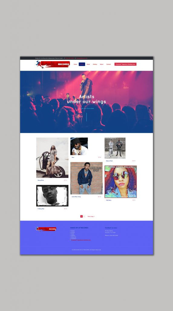Website design for Record Label