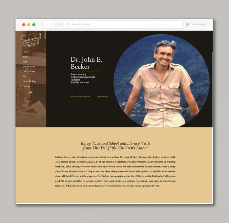 Website design for the writer of children's books