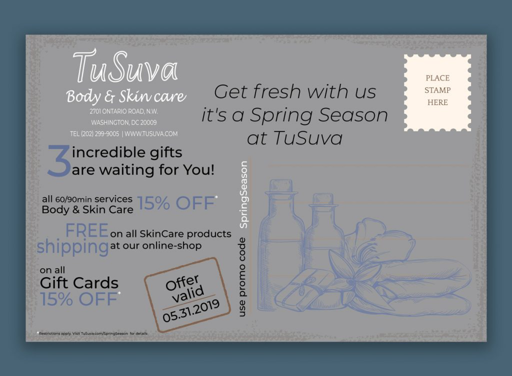 Promotional cards design for a Spring Break