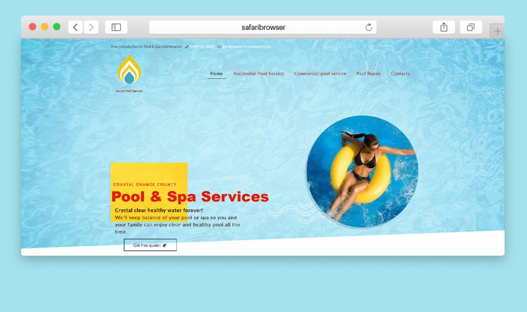 Website design for a poll service company