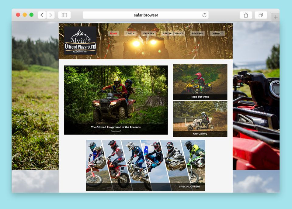 Website design for an Offroad ATV park