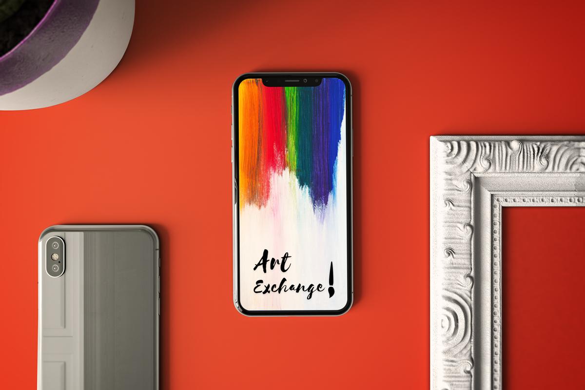 Mobile App Design Art Exchange